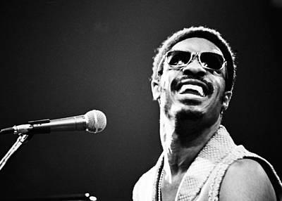 Photograph - Stevie Wonder - Huge Grin by Robert  Rodvik