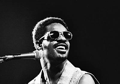 Photograph - Stevie Wonder - Looking Back by Robert  Rodvik