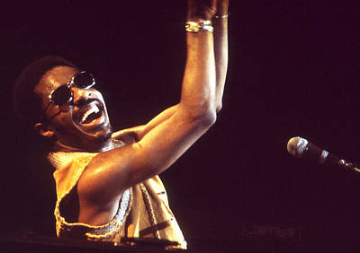 Photograph - Stevie Wonder - Million Dollar Smile by Robert  Rodvik