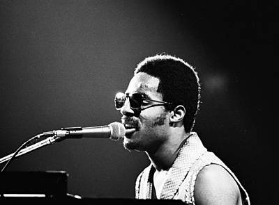 Stevie Wonder - Piano Man Art Print