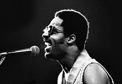 Photograph - Stevie Wonder - Ripping  by Robert  Rodvik