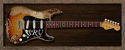 Srv Digital Art - Stevie's Strat by WB Johnston