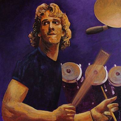 Stewart Copeland - The Police Art Print by John  Nolan