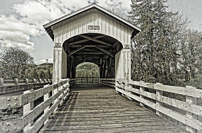 Photograph - Stewart Covered Bridge 1930 by Thom Zehrfeld