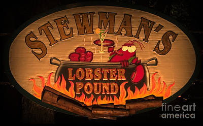 Martini Royalty-Free and Rights-Managed Images - Stewmans Lobster Pound by John Stephens