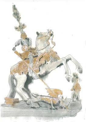 St.george From Piran Art Print