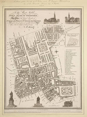 Cartography Photograph - Stgiles And Stgeorge's Bloomsbury by British Library