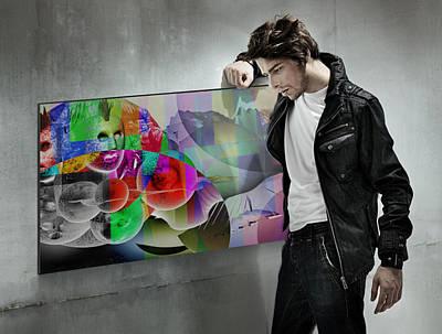 Rhythm And Blues Digital Art - Sth Dimension Transfermation Z 12 On Wall by Sir Josef - Social Critic -  Maha Art