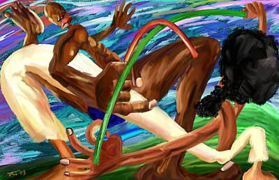 Stickfighting Print by David James