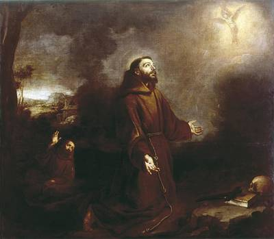 St. Francis Of Assisi Photograph - Stigmatization Of St. Francis. Ca. 1675 by Everett