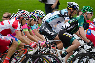 Photograph - Stijn Vandenbergh Omega Pharma Quick Step by Rob Huntley
