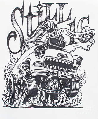 Rat Fink Drawing - Still 16 In Your Mind by Alan Johnson