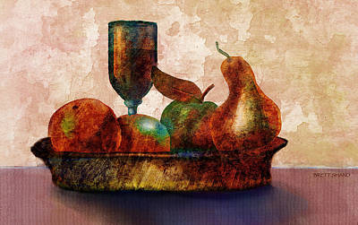 Digital Art - Still Fife - Fruit And Glass by Brett Shand