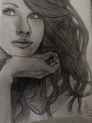 Taylor Swift Drawing - Still IIi by Mukul Rajbanshi