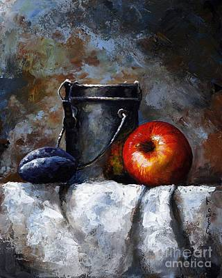 Old Bottles Painting - Still Life 10 by Emerico Imre Toth