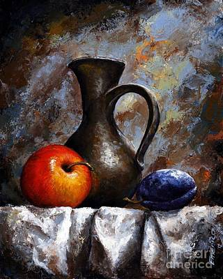 Old Bottles Painting - Still Life 13 by Emerico Imre Toth