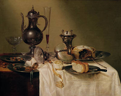 Cellar Photograph - Still Life, 1642 Oil On Canvas by Willem Claesz. Heda
