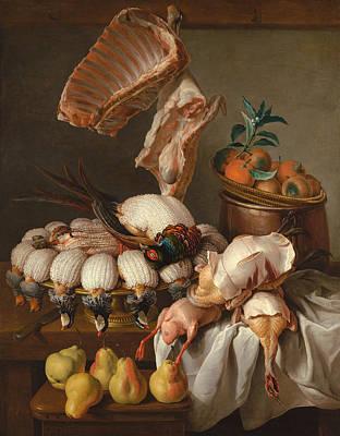 Tangerines Painting - Still Life by Alexandre-Francois Desportes