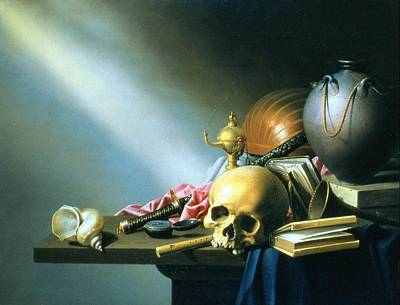 Still Life An Allegory Of The Vanities Of Human Life Art Print by Harmen van Steenwyck