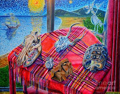Art Print featuring the painting Still Life And ...pirats by Viktor Lazarev