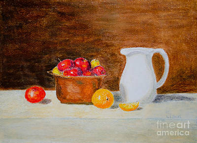 Pastel - Still Life Apples And Oranges by Laurel Best