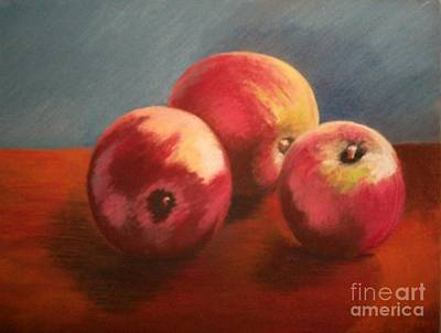 Pastel - Still Life Apples by Susan M Fleischer