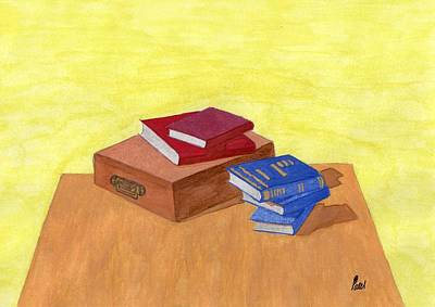 Still Life - Books Art Print by Bav Patel