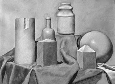 Still Life Drawings - Still Life by Britt Kuechenmeister