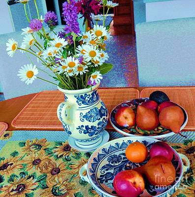 Photograph - Still Life Ceramic And Flowers by Vicky Tarcau