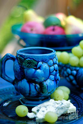 Blue Grapes Photograph - Still Life Cheeses And Grapes by Amy Cicconi