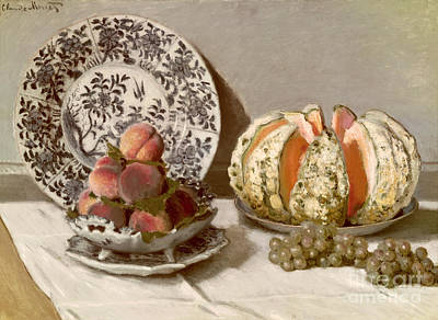 Melons Painting - Still Life by Claude Monet