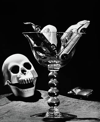 Still Life Concept Of Drunk Driving Toy Art Print