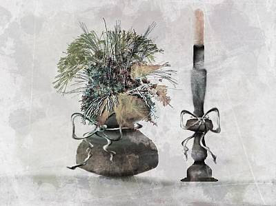 Candle Stick Digital Art - Still Life by Diane Storer