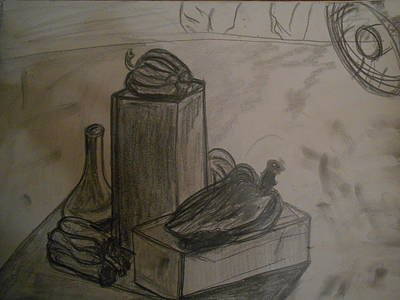 Still Life Drawings - Still Life Drawing with Bell Peppers by Shea Holliman