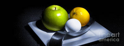 Apple Still Life Photograph - Still Life Eclectic 2 by Cecil Fuselier
