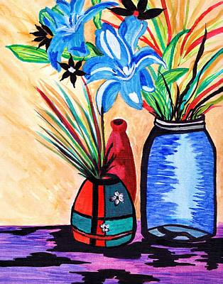 Painting - Still Life Flowers by Connie Valasco