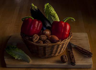 Still Life For A Vegetarian Art Print by Julis Simo