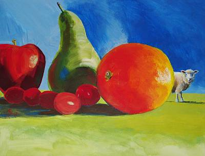Painting - Still Life Fruit by Mike Jory