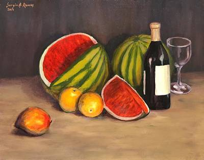 Sergio Ramos Wall Art - Painting - Still Life Fruits by Sergio A Ramos