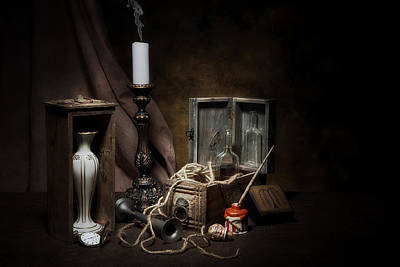 Ropes Photograph - Still Life - General Vintage Items by Tom Mc Nemar