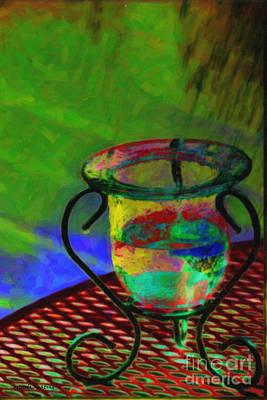 Abstract Digital Mixed Media - Still Life by Gerlinde Keating - Galleria GK Keating Associates Inc