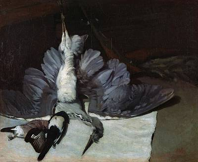 Still-life Heron With Spread Wings, 1867 Oil On Canvas Art Print