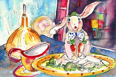 Carrot Drawing - Still Life In Borgo In Italy 01 by Miki De Goodaboom