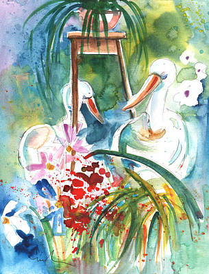 Painting - Still Life In Cheb In The Cech Republic by Miki De Goodaboom
