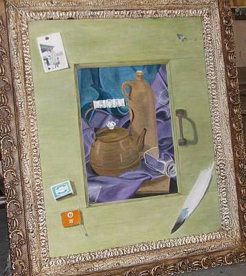 Painting - Still Life In Painted Window by Karin Thue