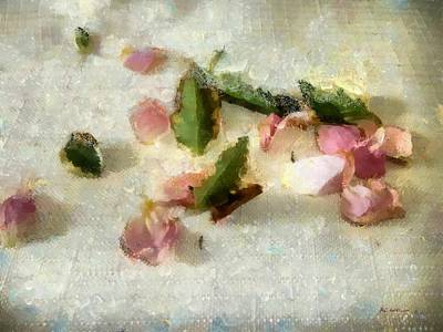 Table Cloth Painting - Still Life In Rough Linen by RC deWinter