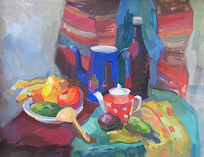 Painting - Still Life In Russian Style by Juliya Zhukova