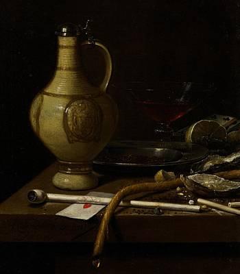 Smoking Room Decor Painting - Still Life by Jan Jansz van de Velde