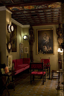 Photograph - Still Life Lobby Of The Hotel Convento La Gloria by Lorraine Devon Wilke