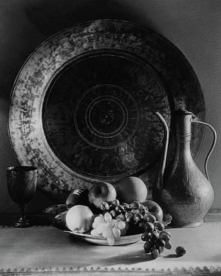 Still Life Of Armenian Plate And Other Print by Joseph B. Wurtz